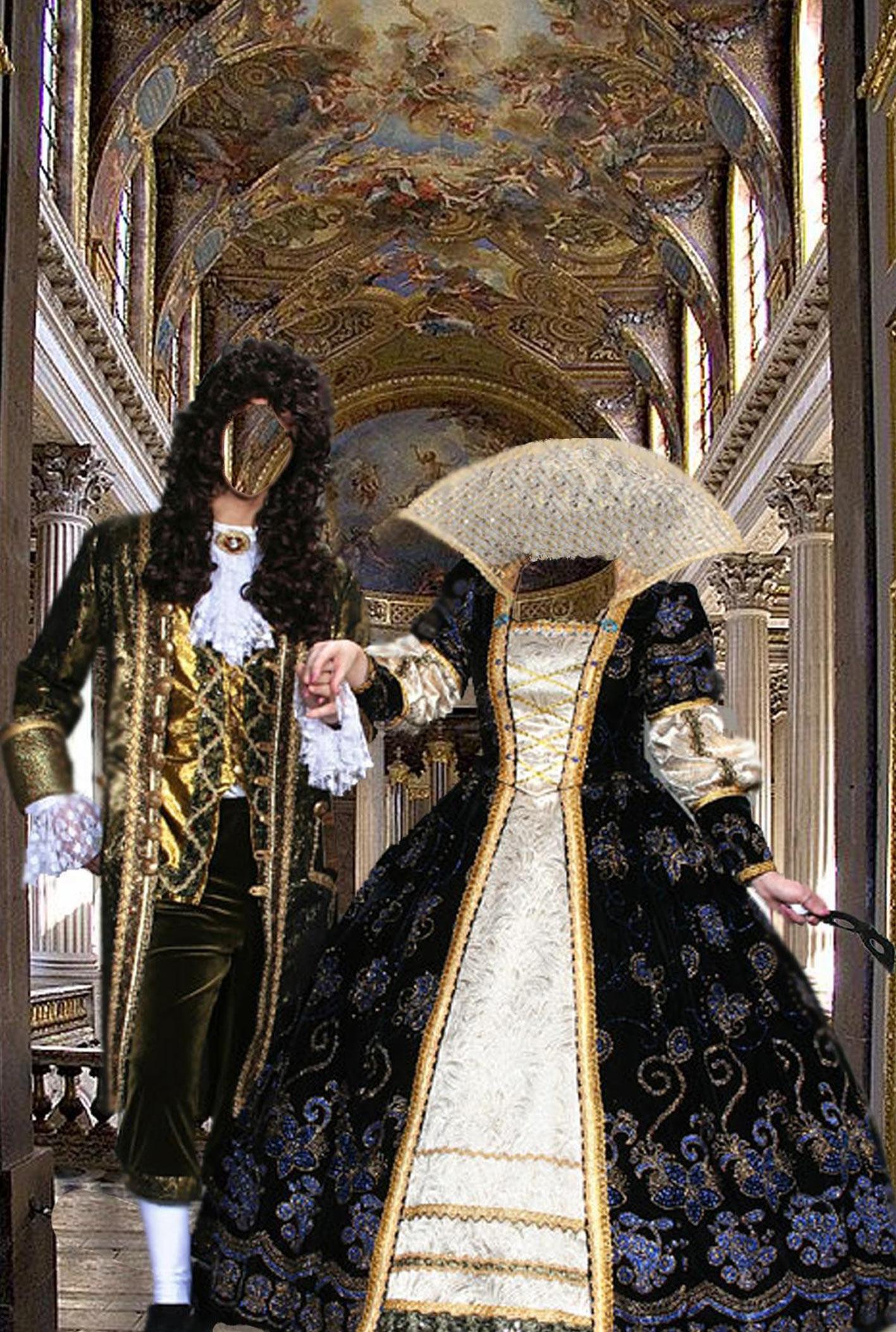 Шаблон фотомонтажа старинные костюмы в паре